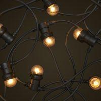 festoon lights black