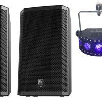 Medium party pack - 2 speakers & 2 lights