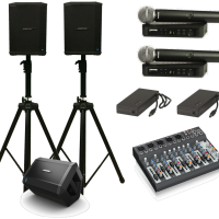 Portable performer PA system with foldback