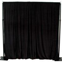 black velveteen drape