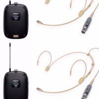 Shure Dual Cheek Headset Bundle